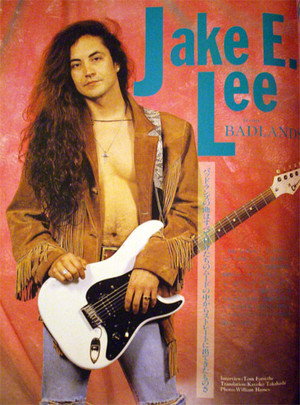 Guitar Magazine 1989年8月号 <b>ジェイク</b>特集 <b>Jake E</b>.<b>Lee</b> from BADLANDS <b>...</b>